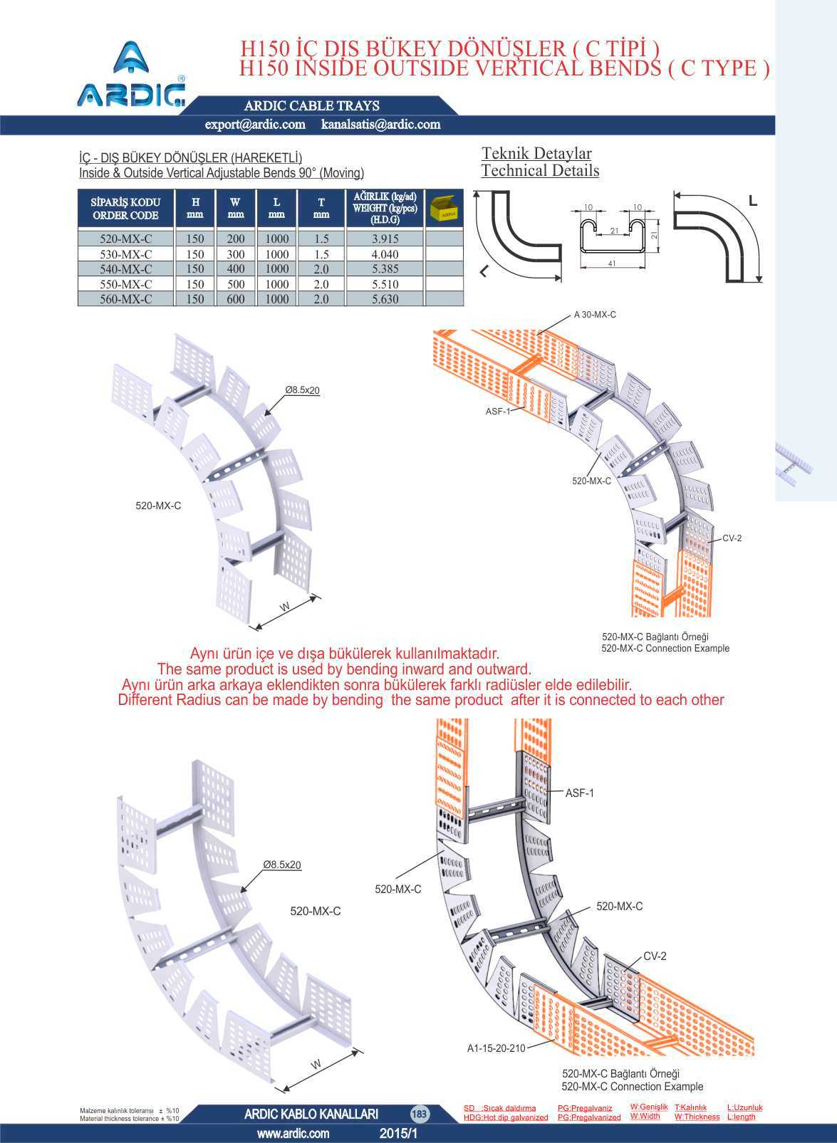 Ard Cable Trays 444 13 64 Ladder Wiring Diagram Images Of Wire 6 H150 C Type Insde Outside Vertical Bends Adjustable