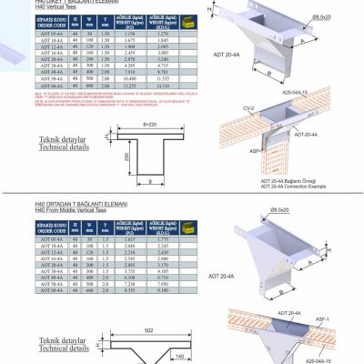 11_H40_K Series Cable Trays Vertical Tees & From Middle Vertical Tees