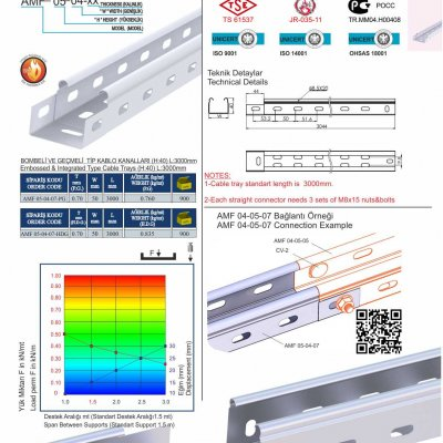 2 H 40 W50 T07 Embossed & Integrated Cable Trays