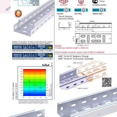 3 H40 W100 T07 Embossed & Integrated Cable Trays