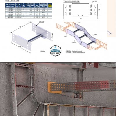 4_H100 M Series Cable Ladder Level Change Units