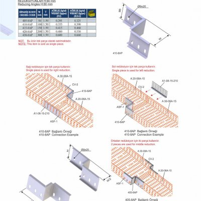 8_H80_K Series Cable Trays Reducing Angles